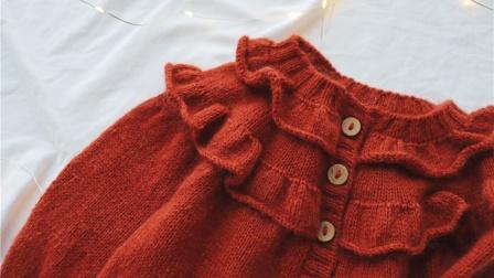 【安妮】2/2集 从上往下编织圆肩毛衣 亲子棒针开衫