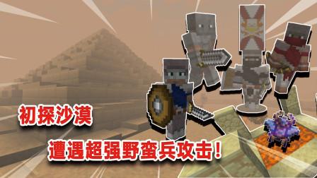 我的世界:初探阿图姆沙漠,遇凶狠强盗!死十几次才撬开金字塔!