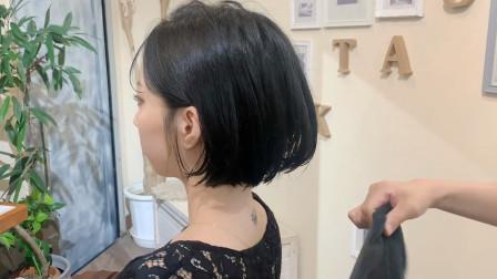 """很时尚的""""外翻短发"""",个性年轻有气质,非常适合29到39岁女性"""