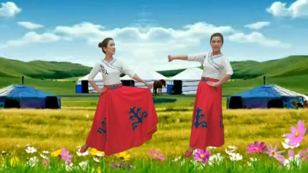 民族舞《且听草原》草原的云,草原的风都是我留恋的对象