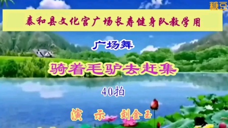 泰和县长寿健身队骑骑着毛驴去赶集教学片