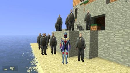 欧布奥特曼在海边遇见一群蒙面人要怎么办?