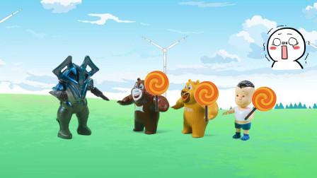 儿童剧:怪兽来抢棒棒糖,熊大带领大家一起健身,能打败怪兽吗?