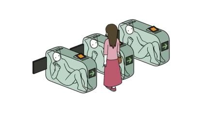 没有机器却很先进的未来世界 检票机里都是真人手动操作 治愈片