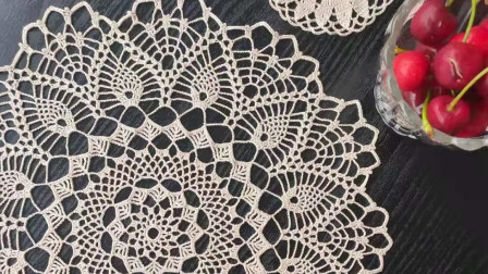 【ZD007】太阳花小桌垫盖布-天天编织钩针