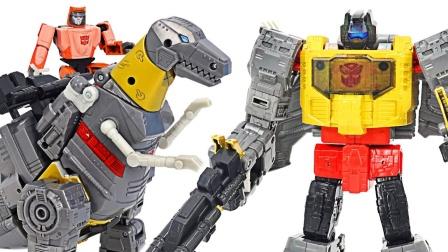 彩色机器人VS恐龙玩具