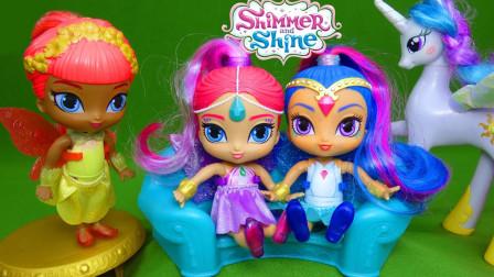 愿望精灵玩具开箱:三位愿望精灵有漂亮的精灵翅膀