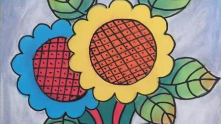 画一幅美丽的向日葵