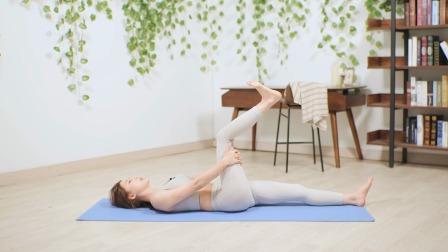 有效拉伸韧带实现开胯,燃脂塑形每天练练
