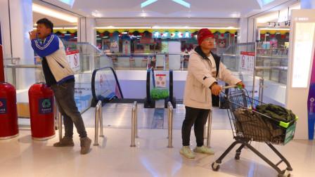 大雄找妈妈1:大雄和表姐去商场,看到一个身影像妈妈,会是她吗