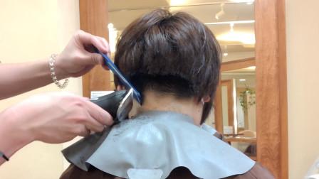 """37岁女性嫌""""波波头""""太普通,发型师后脑以上直接推,完全不一样"""