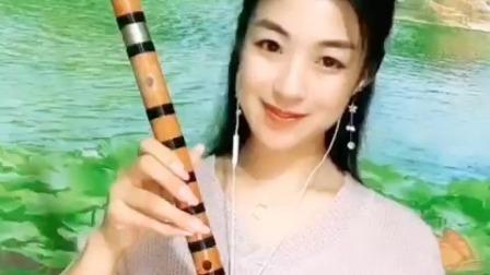 《挡不住的思念》笛子演奏,大B调低音一节瑾儿乐坊精制笛子
