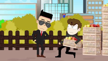 搞笑动画:现在没点演技,都不敢出来当小偷