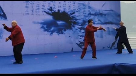 赵幼斌,朱天才,翟维传,三大流派三位太极名家,一起出席全国老年协会,桐庐站活动。
