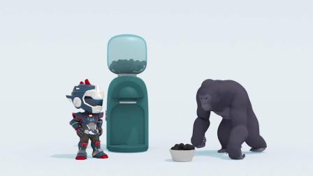 里奥变身成功,帮助大猩猩,迷你特工队游戏