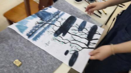 儋州市文化馆公益成人国画班第三次学习剪影