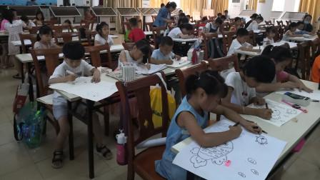 儋州市文化馆公益卡通画班第三次学习剪影