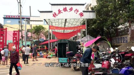 最有味道的湖南小镇赶集,猪肉才11块钱一斤,90岁的老爷爷都来了