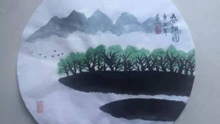 儋州市文化馆公益成人国画班第二节课学习剪影