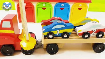 超级飞侠和原木汽车一起愉快地玩,在惊喜车库中打开它们吧!