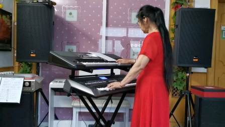 《儿行千里》视频双电子琴演奏2021.5.24l日