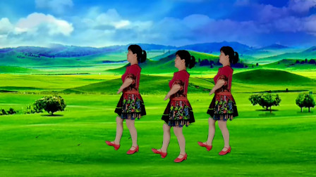 郴州冬菊广场舞【雪莲花】优美大气藏族舞正面演示附背面分解
