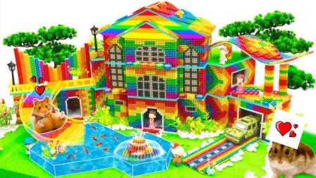 建造最漂亮的巴克球别墅模型