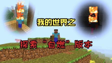 我的世界:玩家操控的游戏角色会随时着火,对此潮弟该如何生存?