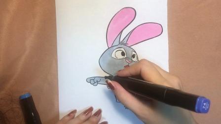 疯狂动物城朱迪兔简单涂色,小朋友们快学起来~(下)