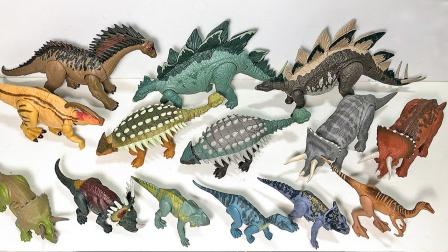 展示生活在侏罗纪时期的恐龙模型