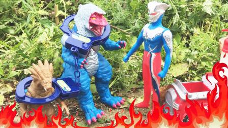 小怪兽野外烧烤引起大火,赛罗奥特曼前来灭火!