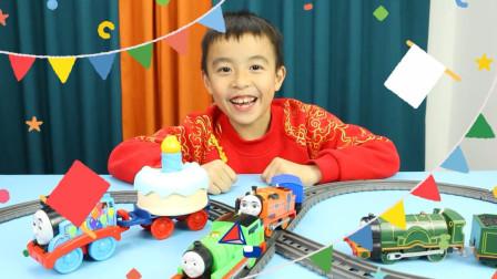 托马斯玩具 托马斯和朋友生日蛋糕许愿小火车