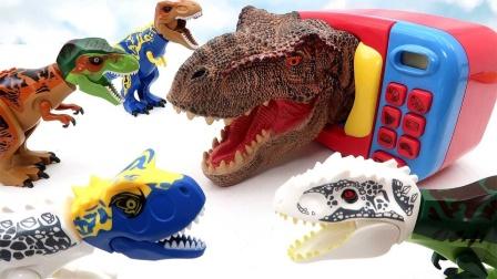 乐高恐龙玩具认识伶盗龙和彩色恐龙蛋