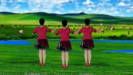 郴州冬菊广场舞【雪莲花】非常好看的藏族舞背面演示附正面分解