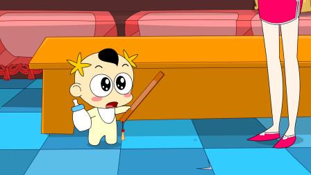 奶瓶小星:戒尺的作用,搞笑动画短片