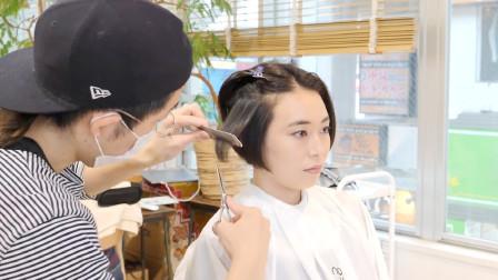 """大圆脸妹子短发这样剪,""""鲍勃头""""就是不一样,瘦脸气质好好"""