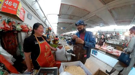 外出采购物资:交网费、食材、茄子苗