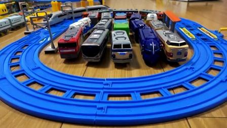 遥控高铁客车双轨圆形轨道,小火车转圈圈玩游戏真棒