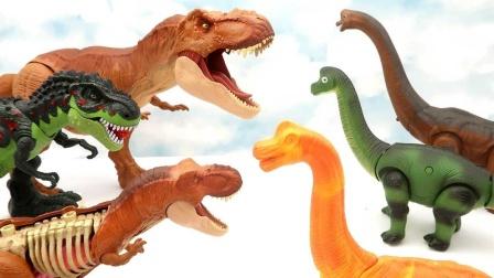 寻找零件拼装小恐龙和港口玩具