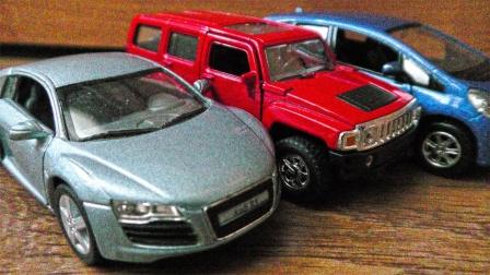 炫彩金属跑车越野车玩具内部结构展示
