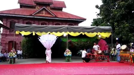 勐景栋傣族传统紧那罗舞:ก้านางนกณวัดอินนครเชียงตุง