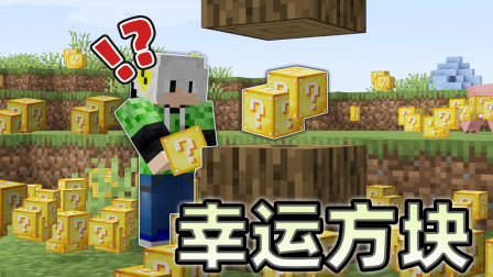 我的世界:整个世界的方块都变成幸运方块!该如何生存?