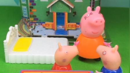 猪妈妈让乔治写作业,乔治假装不舒服
