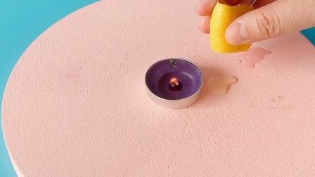 科学实验:柠檬喷火!