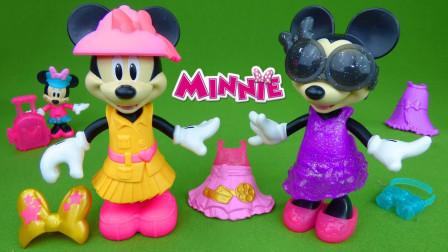 迪士尼米老鼠玩具:米妮老鼠的不同造型装扮