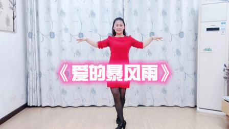 武汉白玫瑰广场舞《爱的暴风雨》完整版,火爆流行舞,正背面恰恰舞