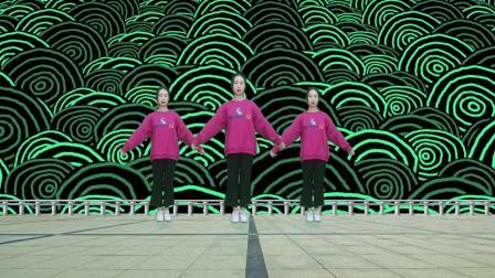 动感DJ广场舞《山里红》,动感旋律,妹妹舞姿性感迷人