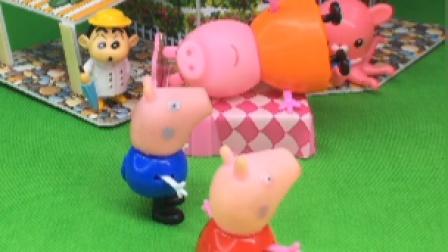 猪妈妈在休息,佩奇照顾家人