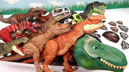 展示50只恐龙玩具了解霸王龙知识