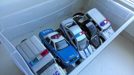 多种造型的警车展示
